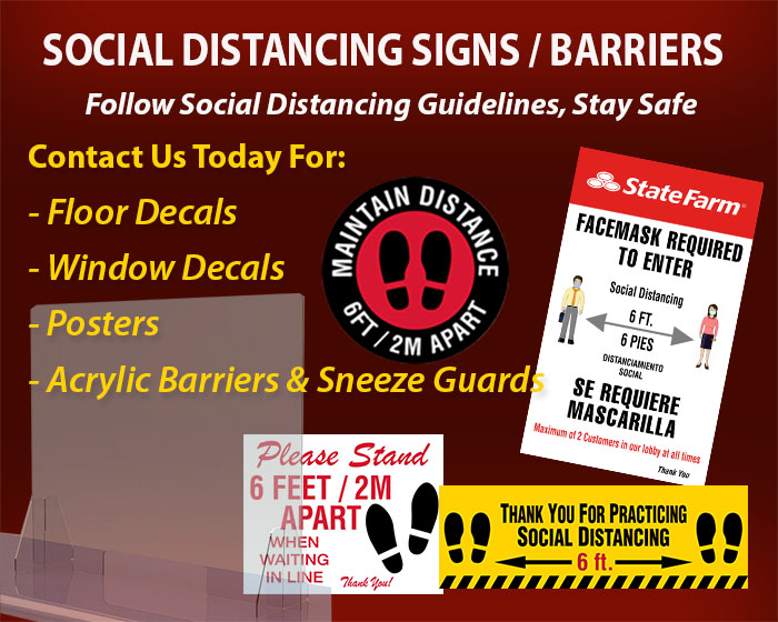 Social Distancing Signs & Safety Barriers