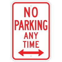 No Parking Anytime with Double Arrow