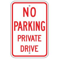 No Parking Private Drive