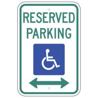 Reserved Parking with Wheelchair Symbol & Double Arrow