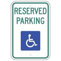 Reserved Parking with Wheelchair Symbol