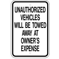 Unauthorized Vehicles Towed Away