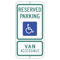 Reserved Parking Van Accessible - Texas